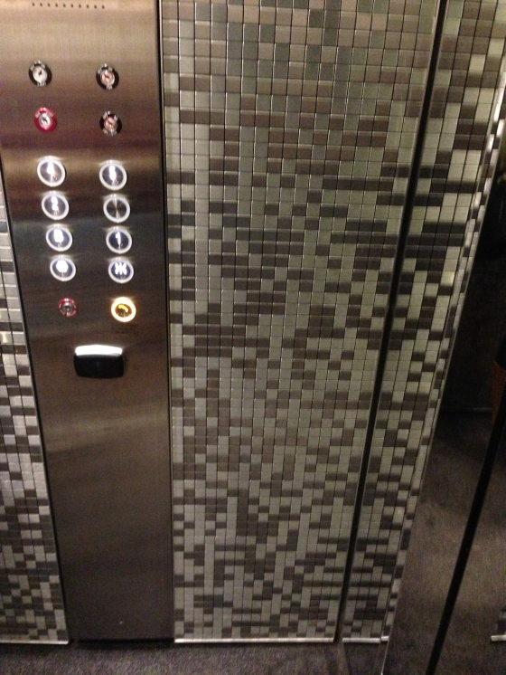 Mosaic crazy…yet subtle in the lifts